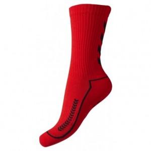 hummel håndboldstrømpe rød og sort
