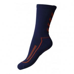hummel håndboldstrømpe blå og orange