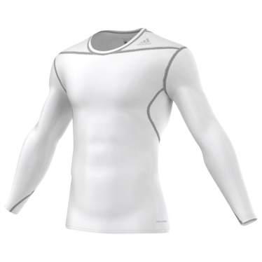 Adidas Techfit Base long shirts hvid